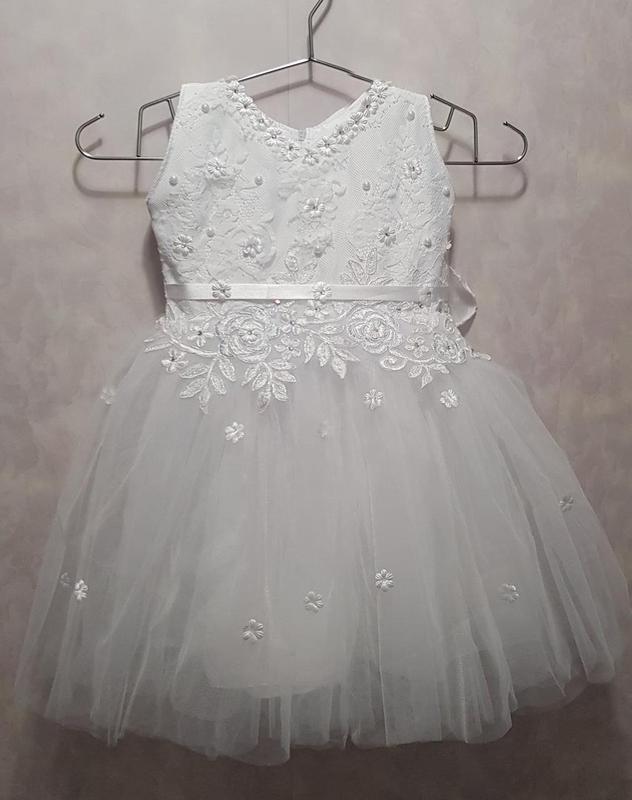 Новогоднее платье снежинки на девочку 3-5 лет