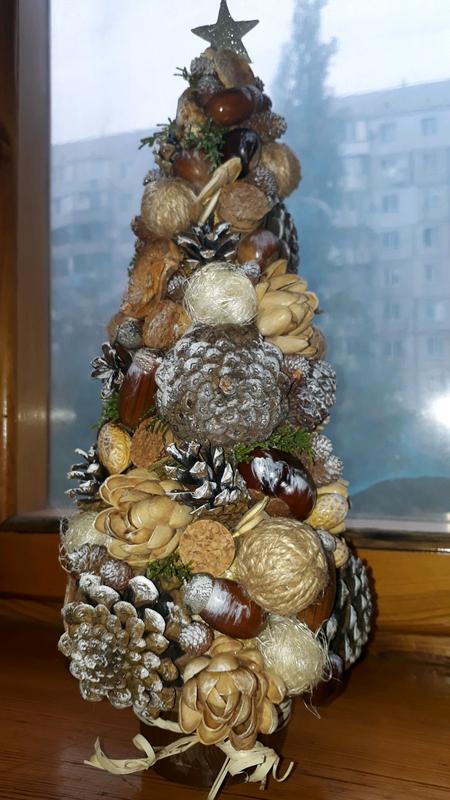 """Новогодняя поделка """"Рождественская ёлочка """""""