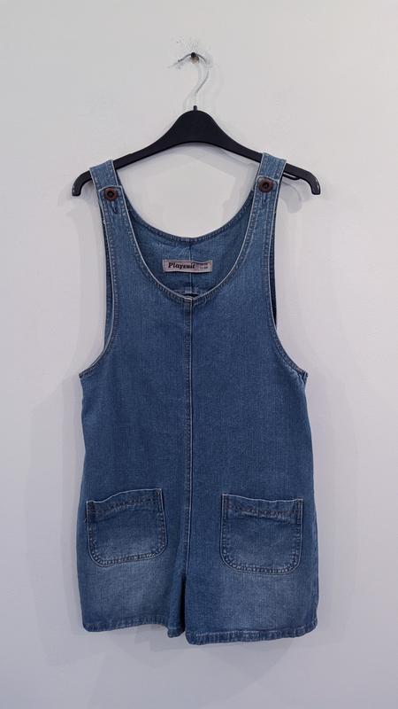 Комбинезон-шорты джинсовый new look