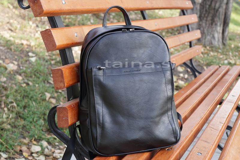 Черный мужской рюкзак david jones оригинал классический вмести...
