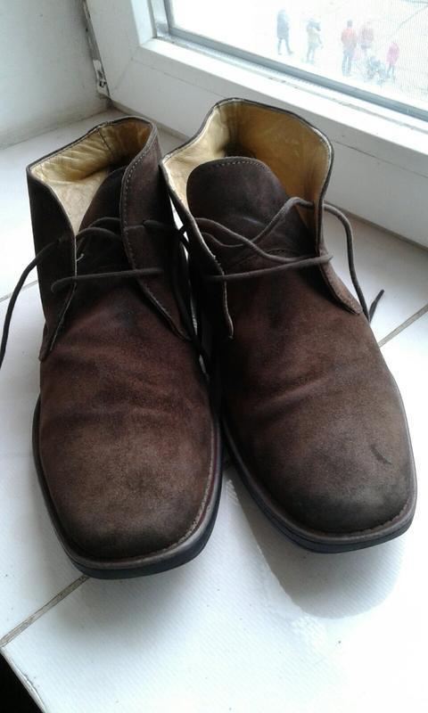 Ботинки замшевые с ортопедической стелькой - Фото 2