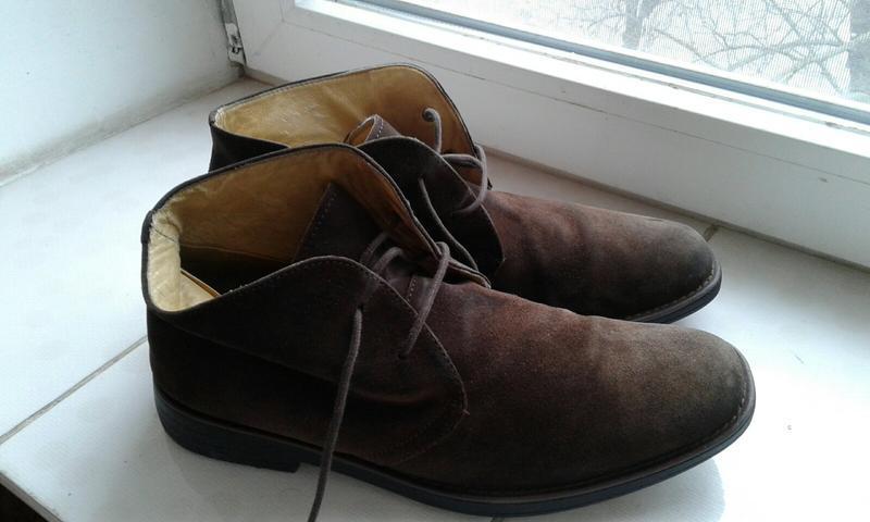 Ботинки замшевые с ортопедической стелькой - Фото 3