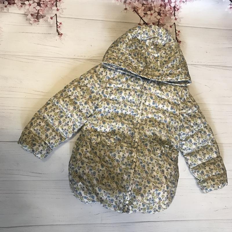 Куртка синтепон тёплая флис от m&co цветы