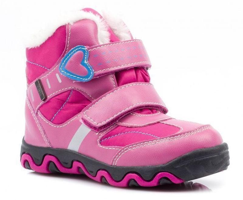 Теплые ботинки ботиночки на липучках рр. 22-24
