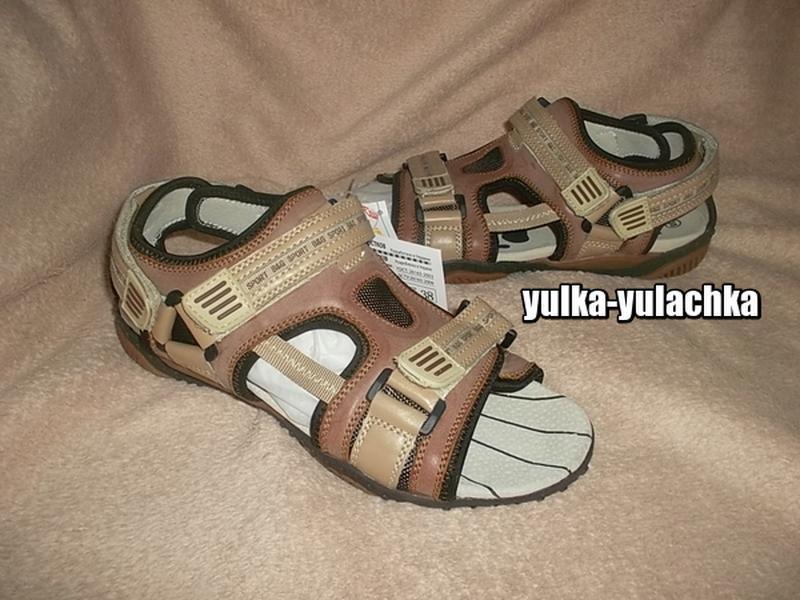 Кожаные сандалии в спортивном стиле рр. 35