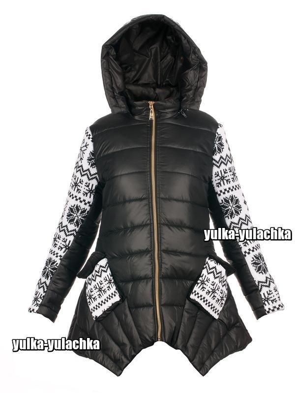 Стильная зимняя куртка с капюшоном рр. 140, 152