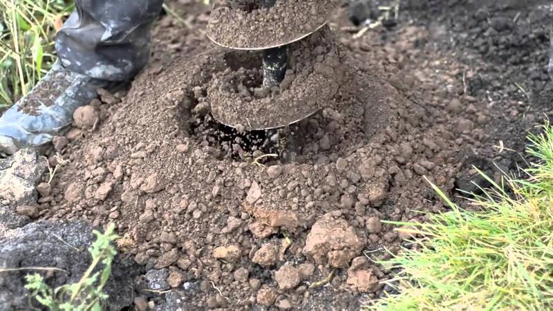 Бензобур Мотобур Ямобур Землебур Бурение отверстий в почве.