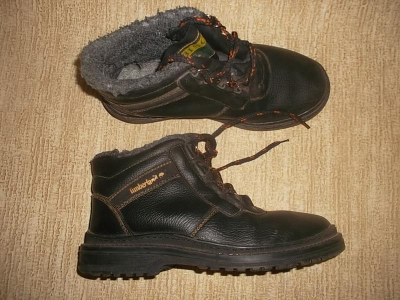 Теплые ботинки стелька 25,2 см.