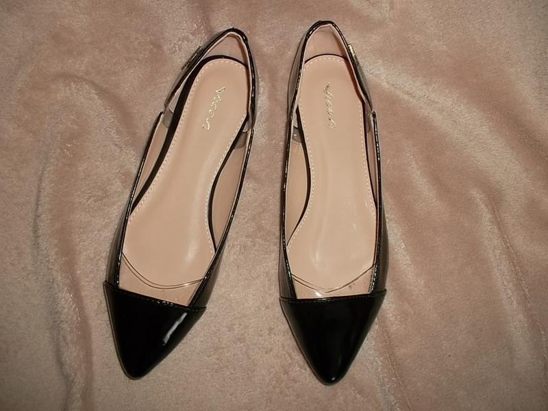 Туфли на низком ходу с лаковым носочном кожаная стелька - Фото 5