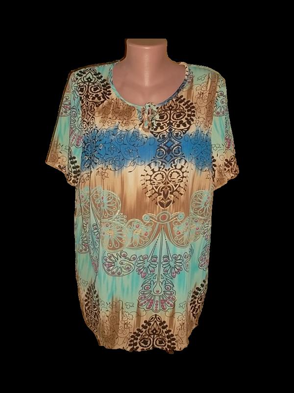 Футболка блуза с коротким рукавом пог=55,5 см.