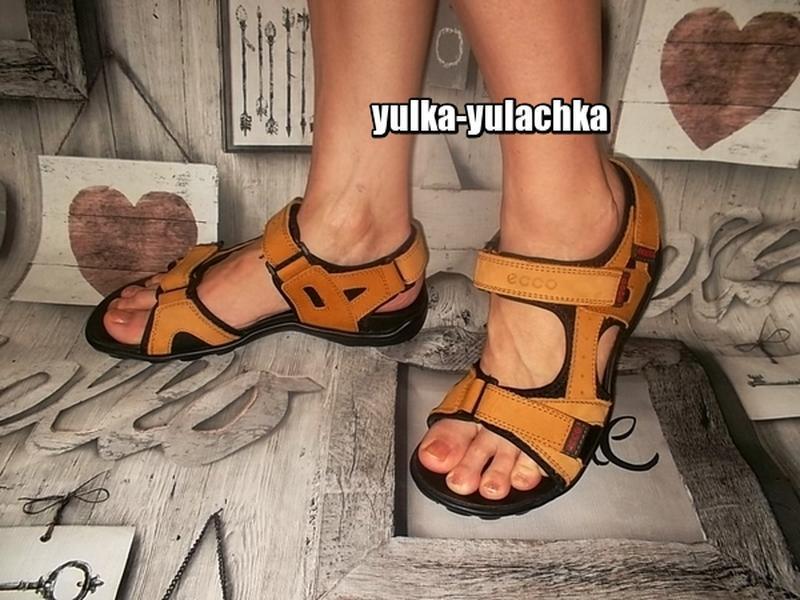 Кожаные сандалии в спортивном стиле ecco
