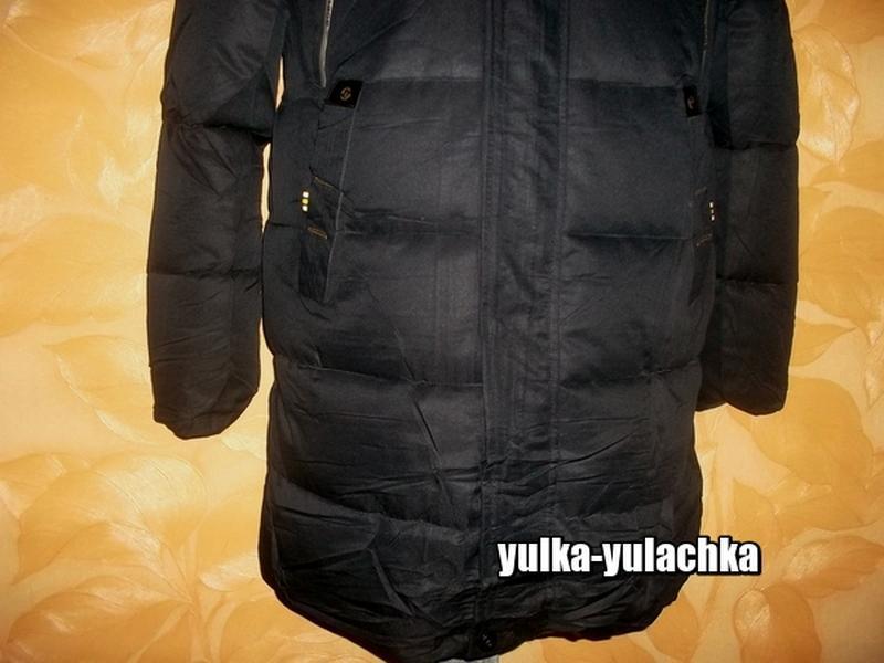 Зимняя мужская удлиненная куртка - Фото 4