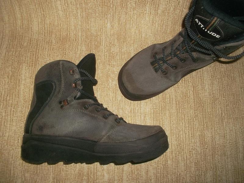 Теплые ботинки замша стелька 26 см.