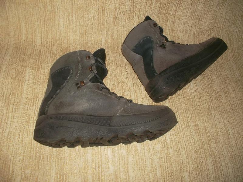 Теплые ботинки замша стелька 26 см. - Фото 3
