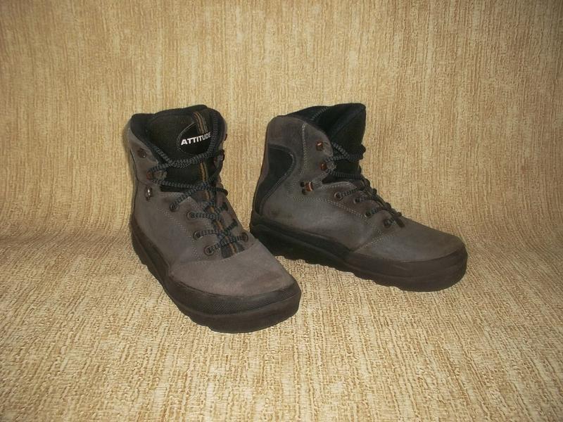 Теплые ботинки замша стелька 26 см. - Фото 5