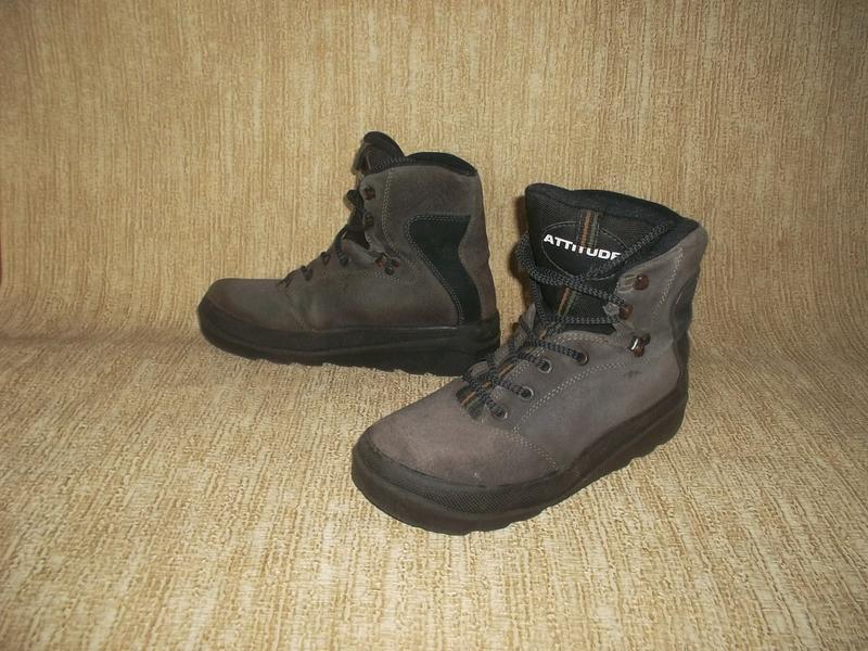 Теплые ботинки замша стелька 26 см. - Фото 6
