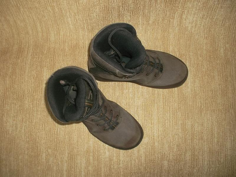 Теплые ботинки замша стелька 26 см. - Фото 8