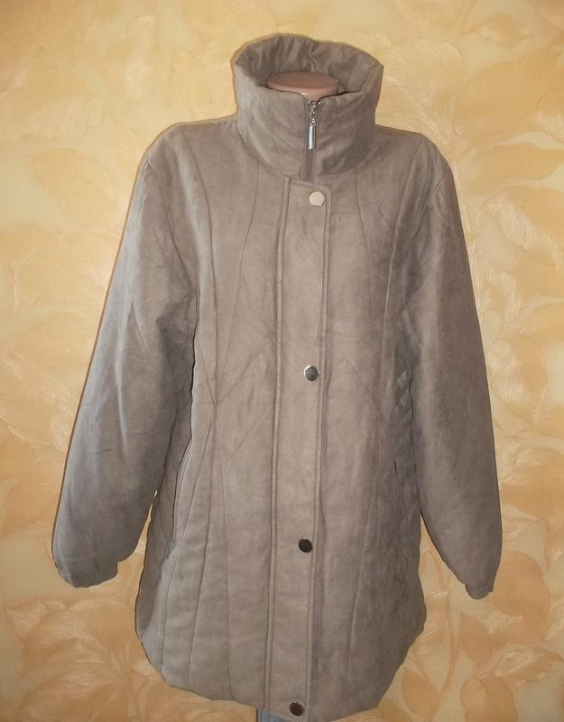 Удлиненная куртка на синтепоне пог 63 см.