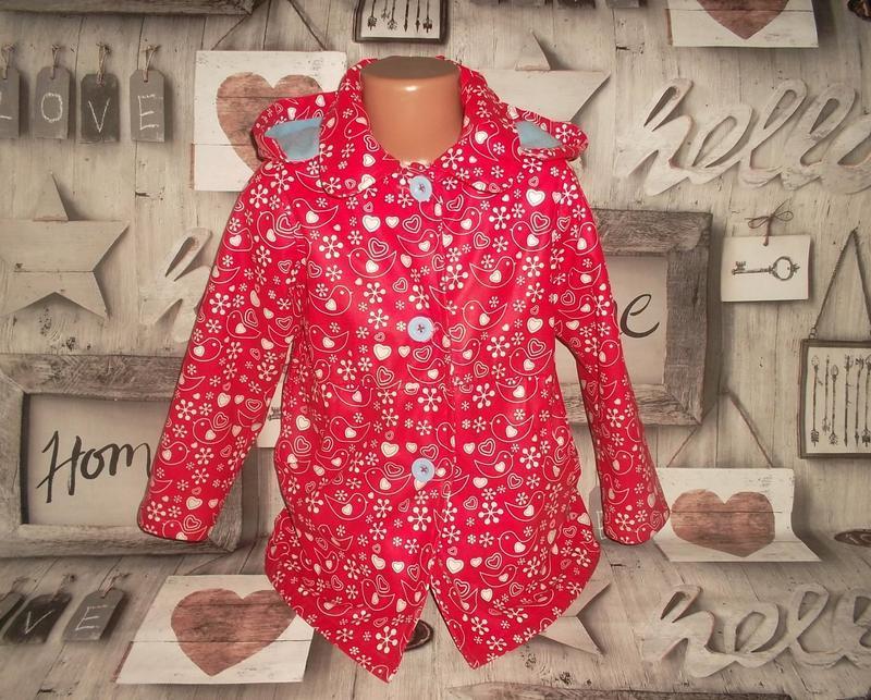 Дождевик куртка с капюшоном непромокаемая рр. 116