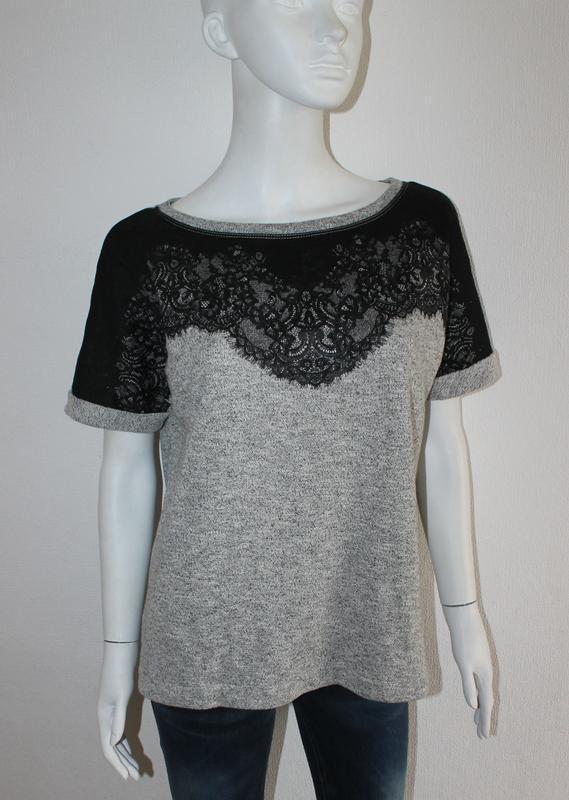 Женская футболка джемпер плотная футболка