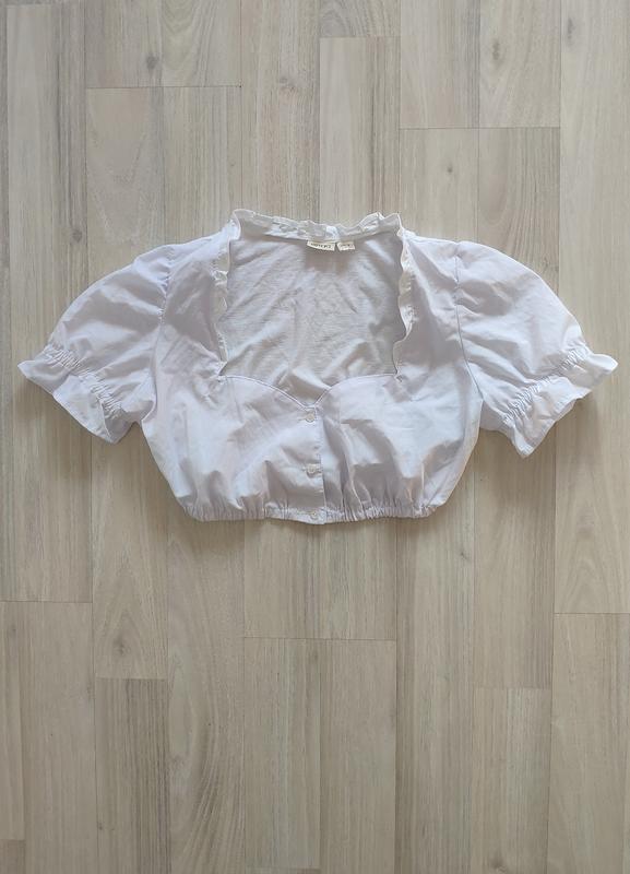 Рубашка топ сорочка топ коротка блуза