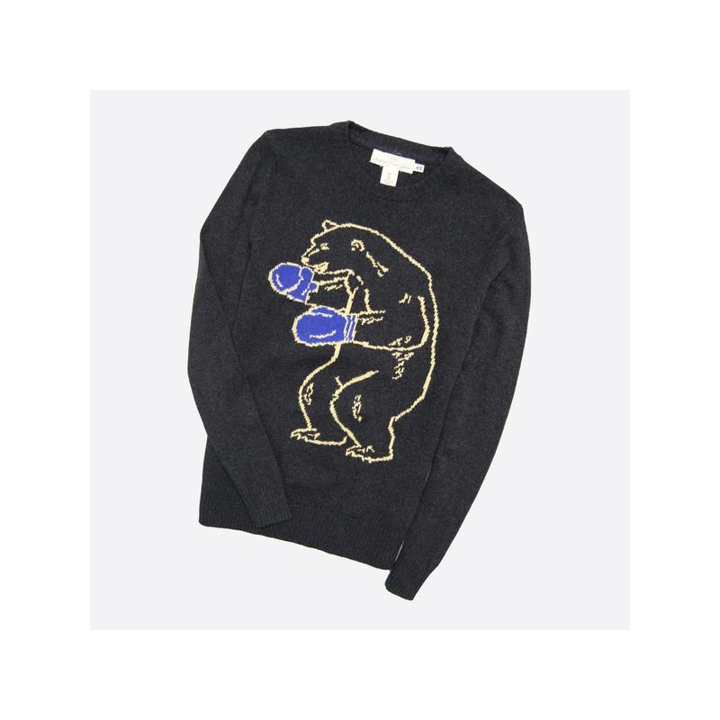 H&m s / мужской тёмно-серый вязаный свитер джемпер с узором ме...