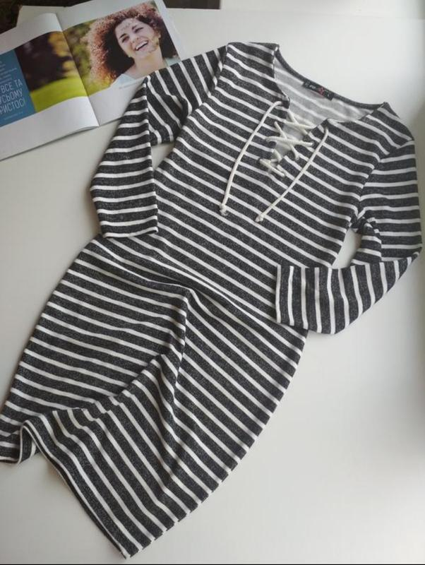 Трендова сукня полосата s,m