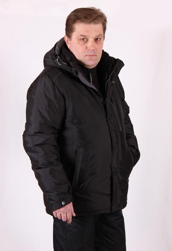 Куртка мужская зимняя Avecs AV7342693B баталы Размеры 60 62