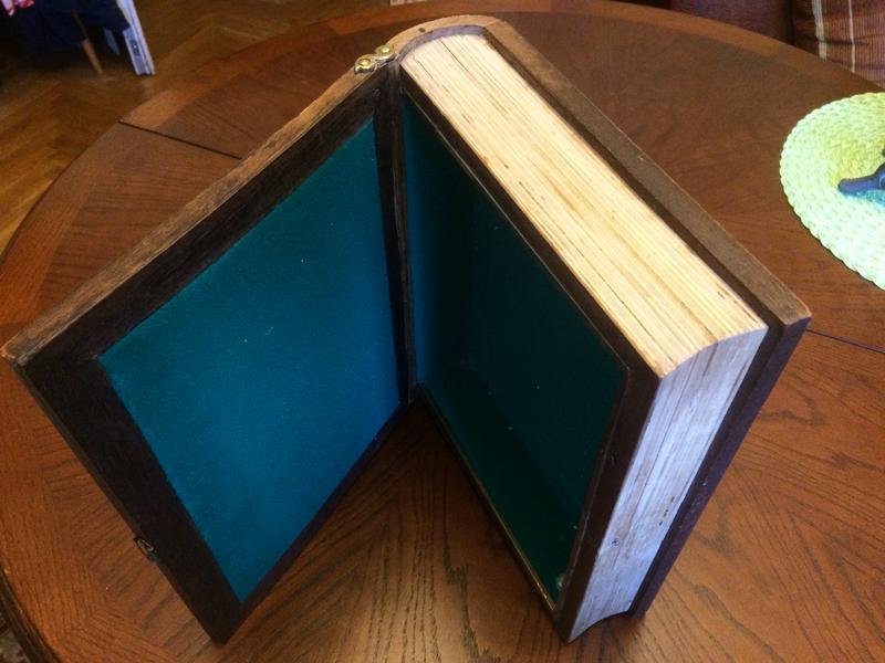Футляр книга ларец шкатулка с резьбой для ценностей и документов