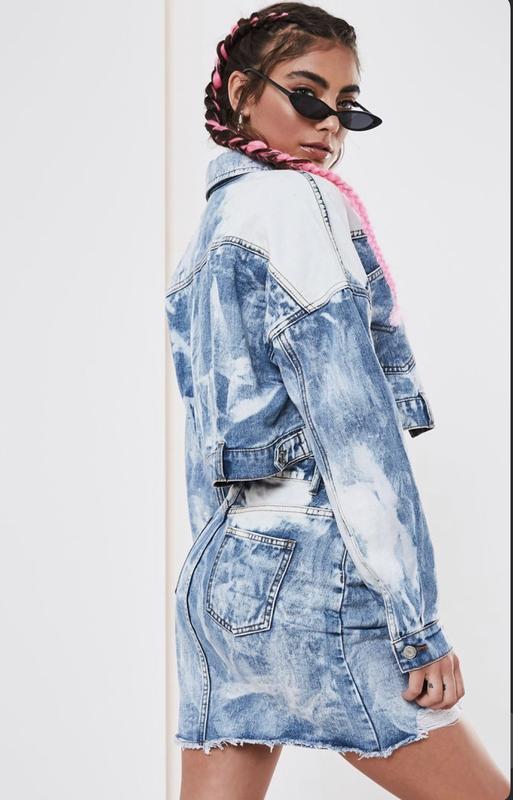 Джинсовая куртка размер xs- s идеальное состояние рваная