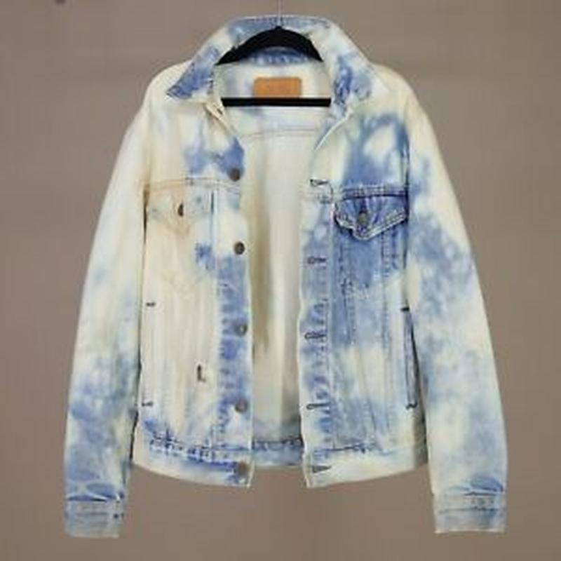 Джинсовая куртка размер xs- s идеальное состояние оверсайз