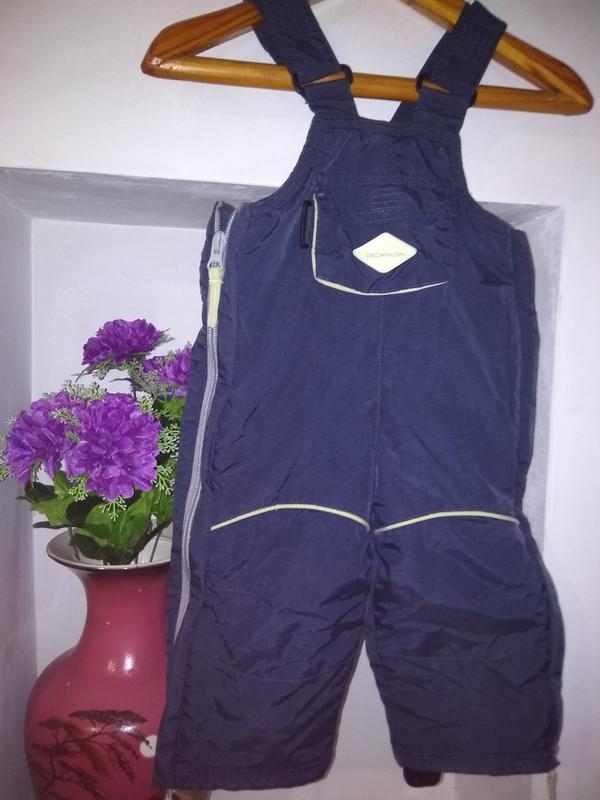Теплые брюки-комбинезон на 1 -1,5 лет