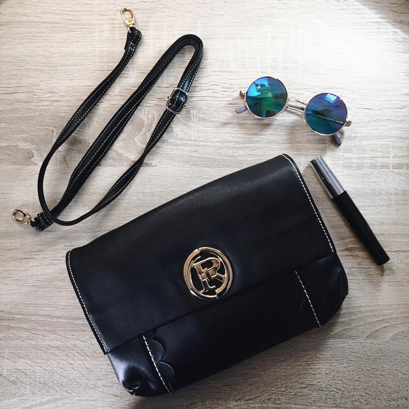 Кожаная модная сумка crossbody - клатч, модель 2018