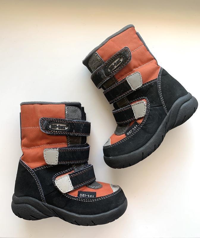 Зимние термо ботинки del-tex