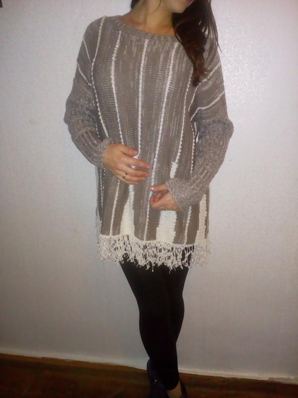 Шикарный свитер платье   размер m