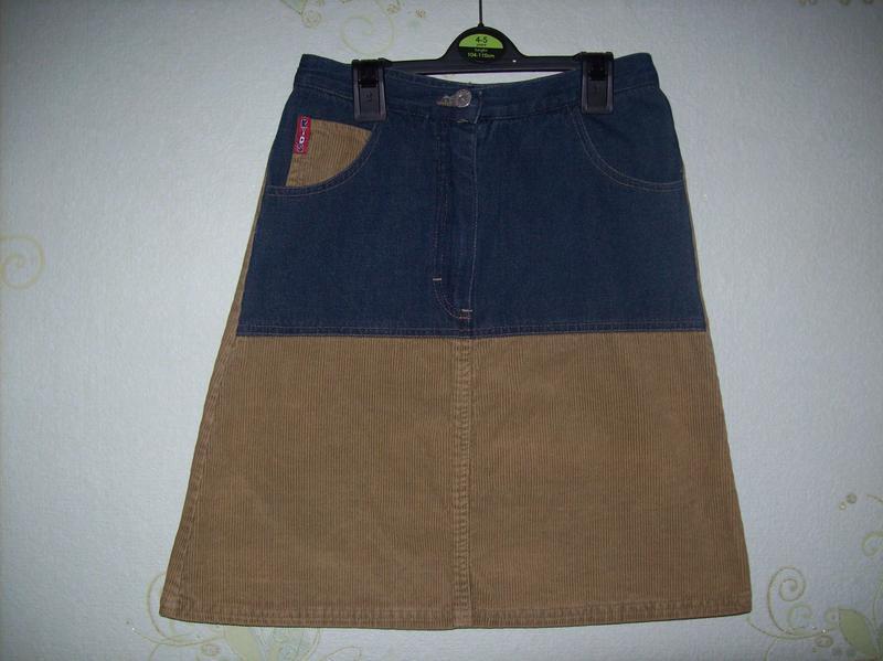 Комбинированная юбка джинс/вельвет kids fashion