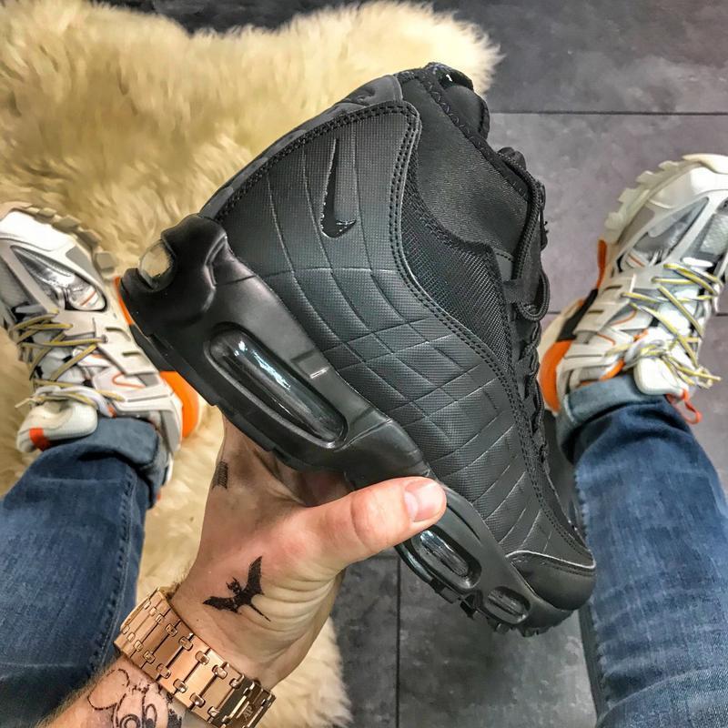 🔥nike air max 95 sneakerboot black🔥мужские чёрные кроссовки на...