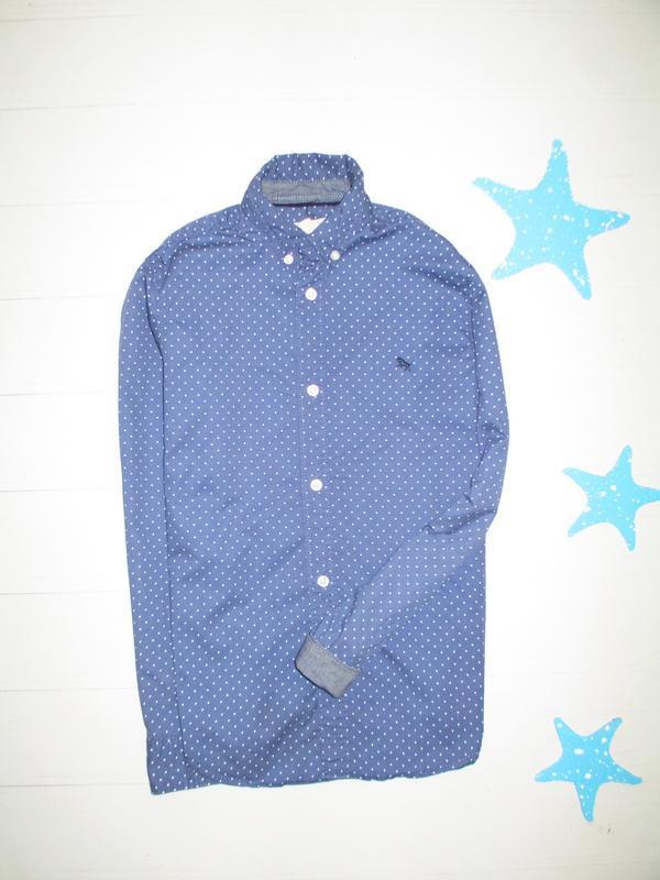 Рубашка h&m на 8-9л (100% котон)