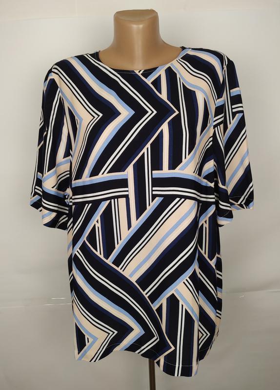 Блуза вискозная красивая в геометрический прнит new look uk 16...