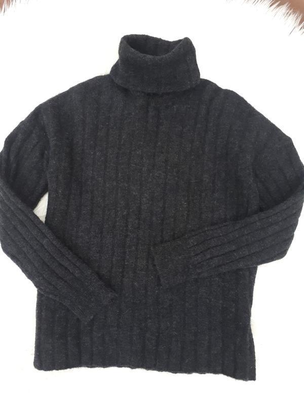 Тёплый свитер гольф с альпаки раз.l/xl