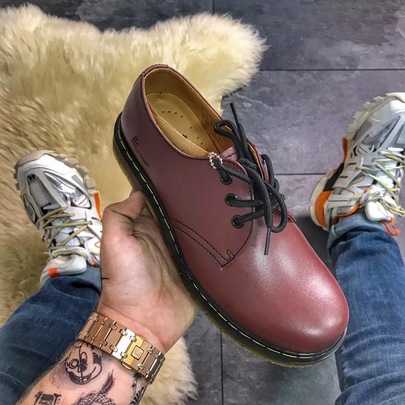 🔥dr martens 1461 cherry🔥стильные женские/мужские туфли мартинс...