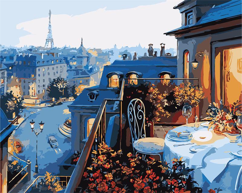 Картина за номерами Паризький балкон gx7255 40х50 см sadwest com
