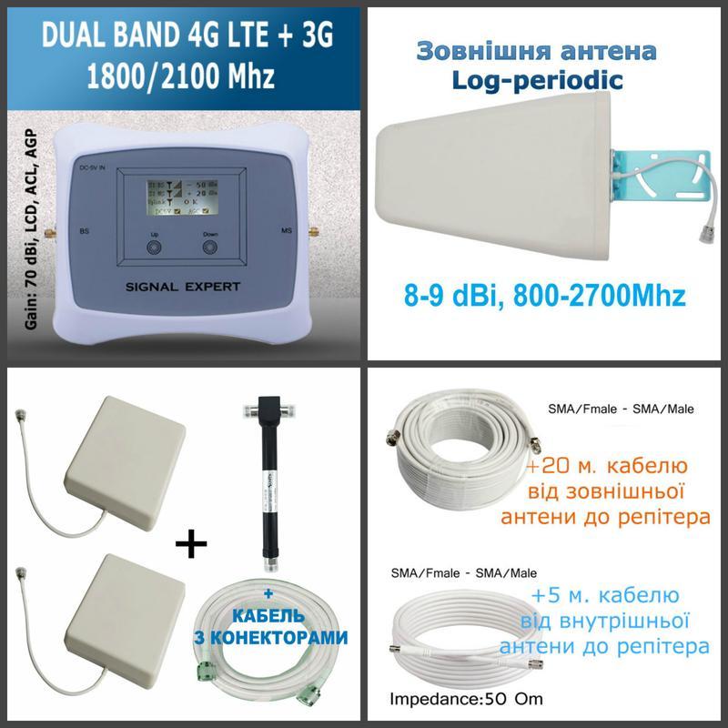 Підсилення сигналу мобільного зв'язку в місті та за містом 4G 3G