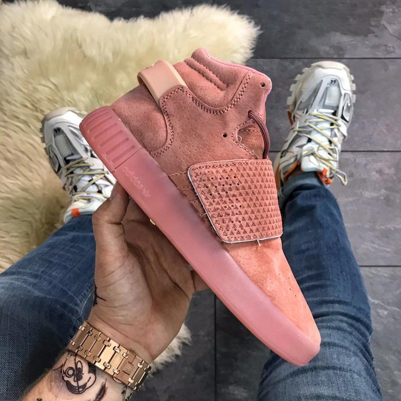 Adidas tubular invader pink. женские розовые кроссовки адидас ...