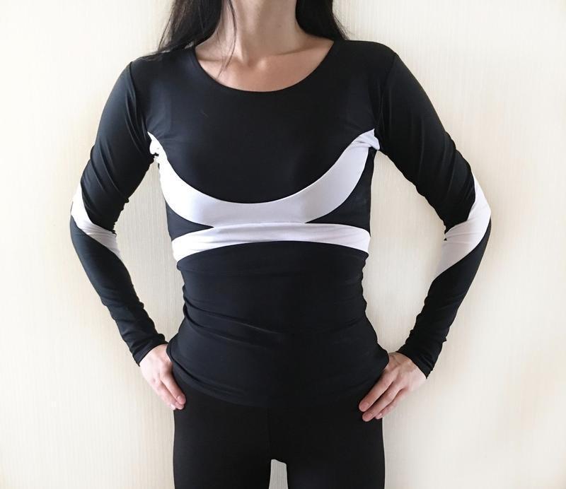 Спортивный женский рашгард кофта для фитнеса