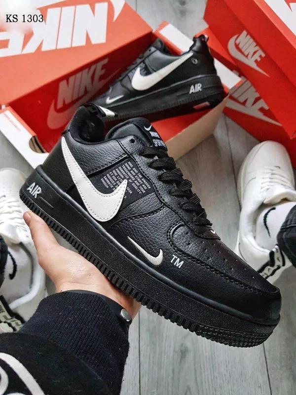 Кроссовки Nike Air Force Black зимние / ботинки / найк