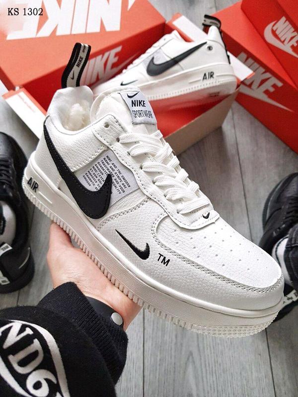 Кроссовки Nike Air Force White зимние / ботинки / найк