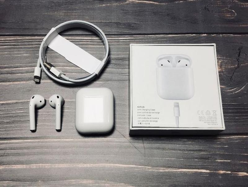 Наушники блютуз люксовая копия Apple AirPods - Фото 3