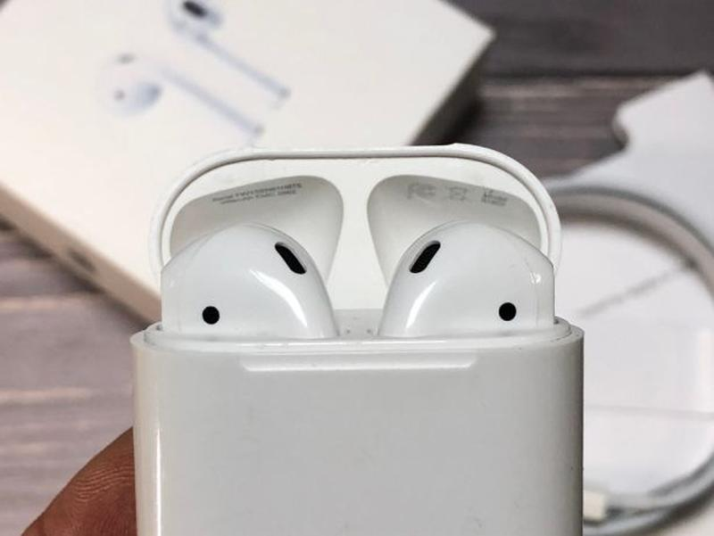 Наушники блютуз люксовая копия Apple AirPods - Фото 5