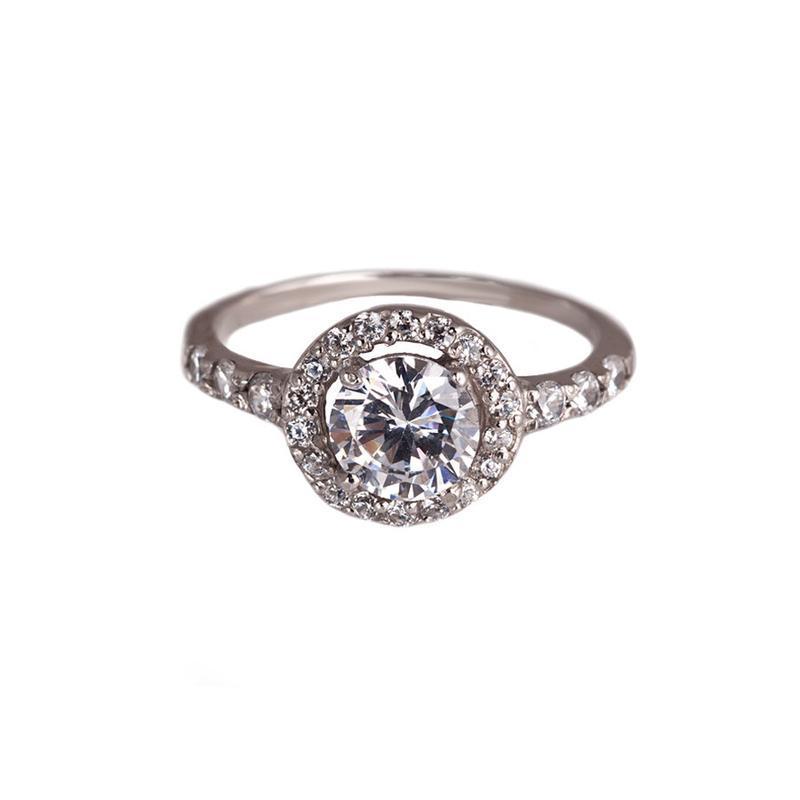 Кольцо из серебра «бриллиант»